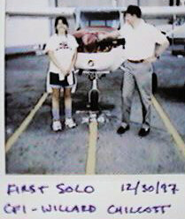 19971230 Cathy's first solo flight 1997 December 30