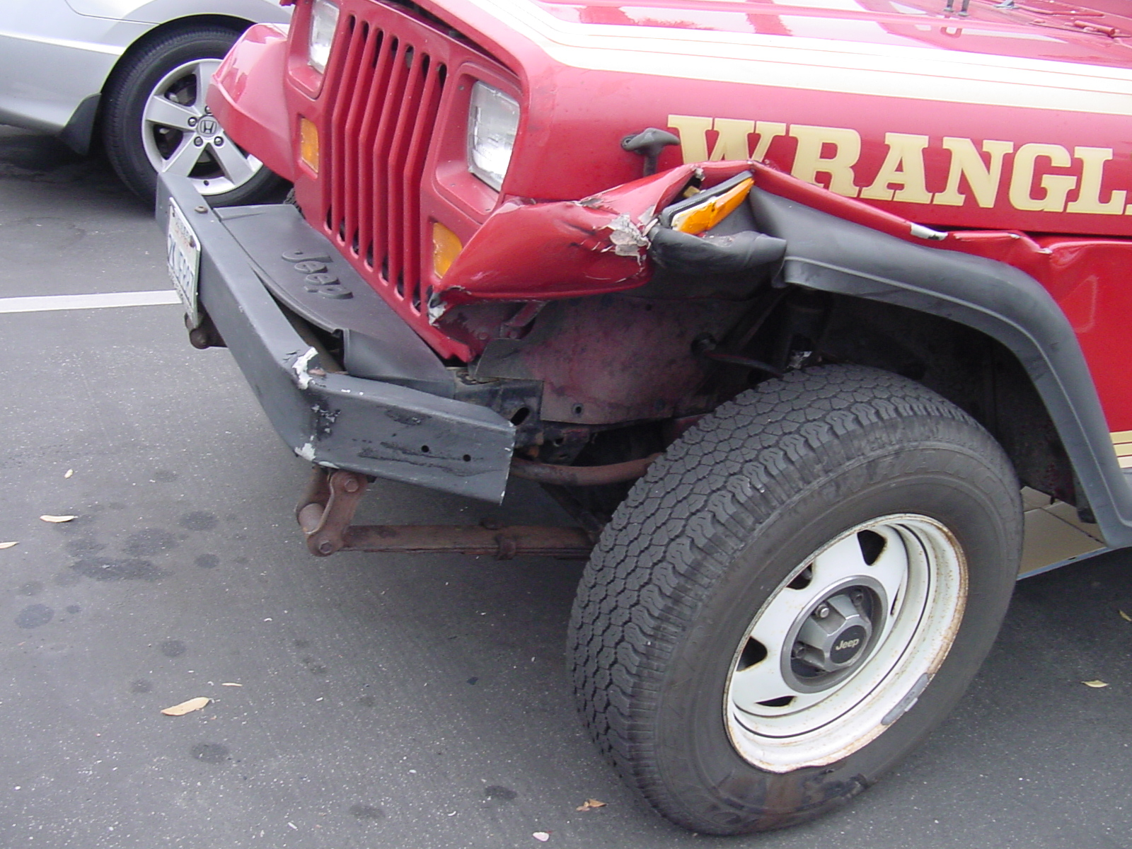 The Jeep after crash