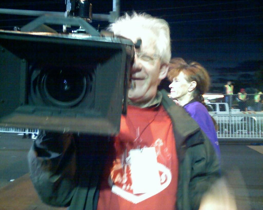 on camera for Sneaker Confidential, Las Vegas Marathon (2006 December 10) Las Vegas NV