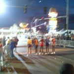 Got to start just behind the elite runners, Las Vegas Marathon (2006 December 10) Las Vegas NV