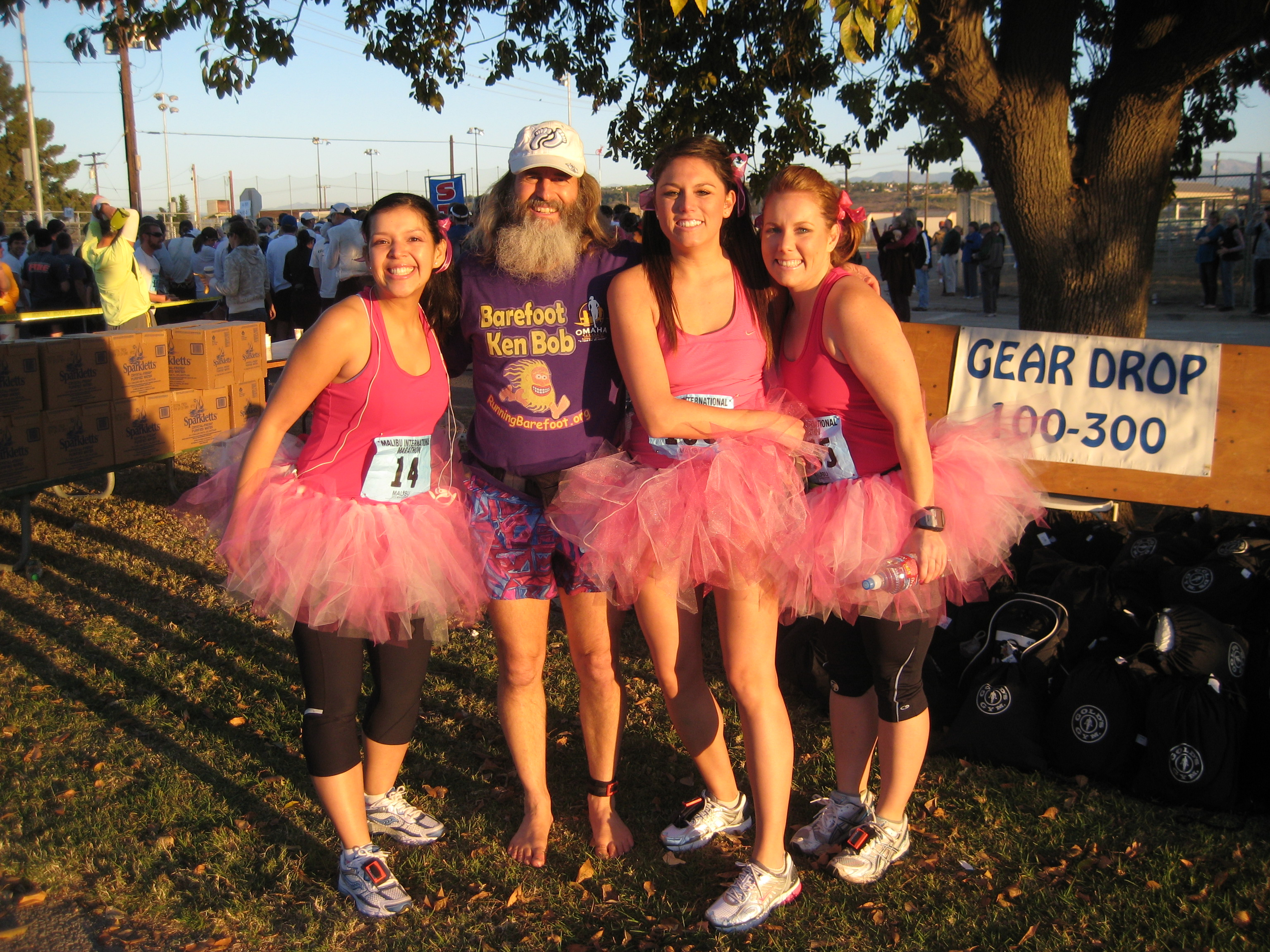 Ken Bob with girls in tutus