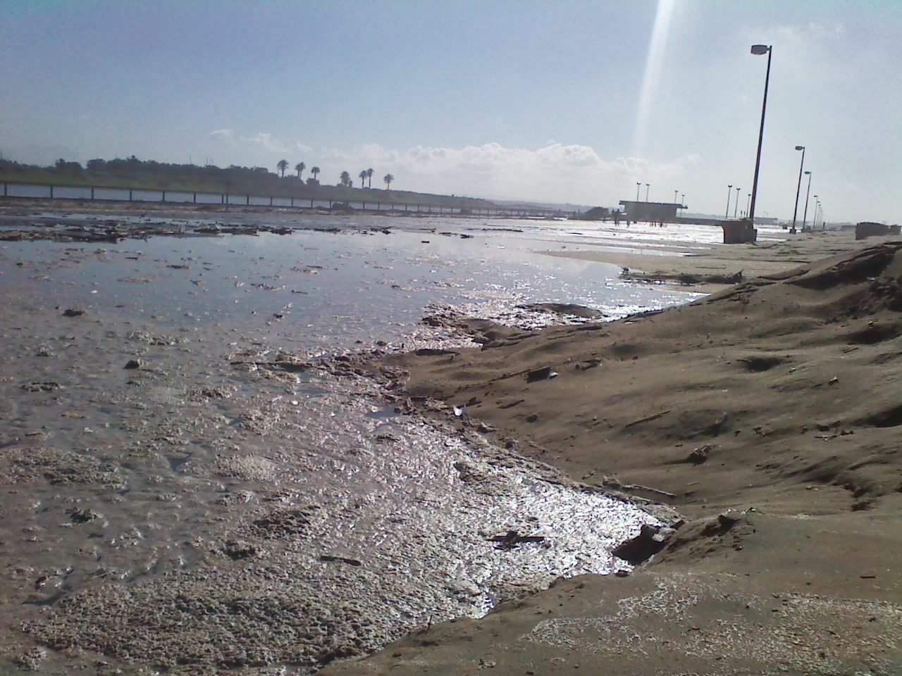 The Bolsa Chica State Beach bike path, where I normally run