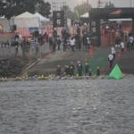 Cathy's group starts swimming, SheRox Triathlon (2011 October 15) San Diego CA