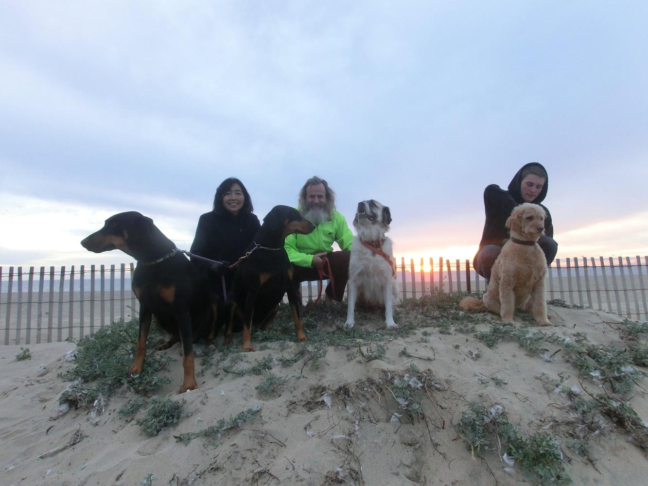 Willie, Alice, Phoebe, Ken Bob, Herman, Trevor, Kasey, Bolsa Chica State Beach, Huntington Beach CA