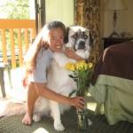Cathy, Herman, flowers, Austin TX 2012 May