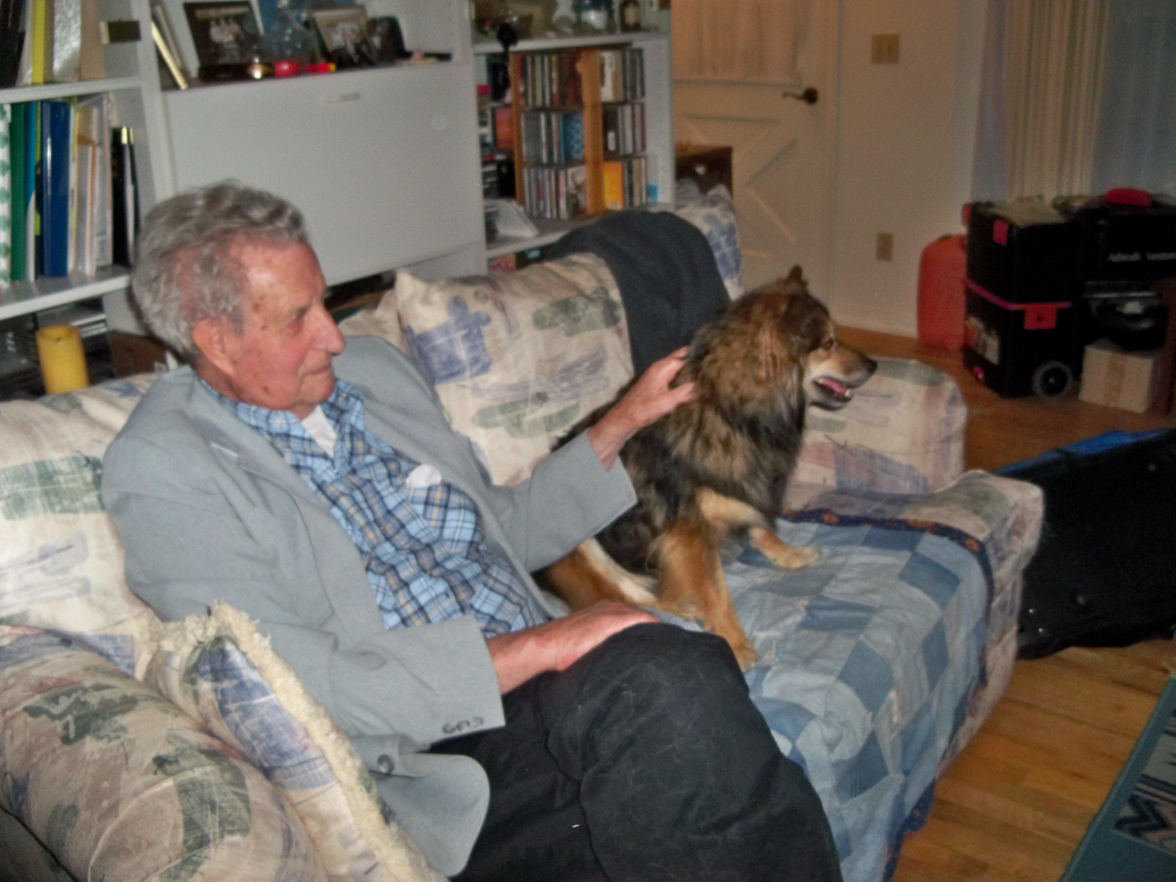 Dad Saxton with Owen, Grand Ledge MI