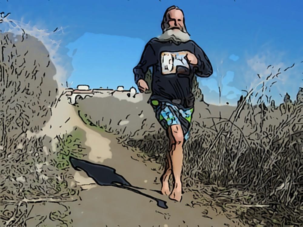 Ken Bob running on trails