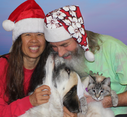 Happy Holidays from Cathy, Herman, Ken, and Aqua