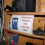 Old right side shelves - Reserved Parking for Doctor Who