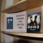 Right side shelves TARDIS interior - Reserved Parking for Doctor Who