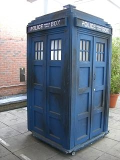 The Mark 2 fibreglass (Tom Yardley-Jones) Tardis as used in the 1980s - photo taken by Zir 18 May 2007 http://en.wikipedia.org/wiki/File:TARDIS2.jpg