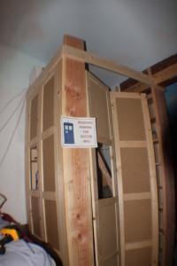 T.A.R.D.I.S. side panels and doors assembled