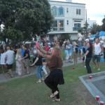 People dancing, children playing, etc.