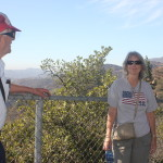 Uncle Dave and Adreah and the Hollywood sign