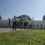 Ken Bob, Adreah, and Uncle Dave at Griffith Park Observatory