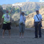 Ken Bob, Adreah, and Uncle Dave and the Hollywood sign