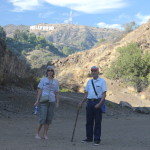 Adreah, and Uncle Dave and the Hollywood sign