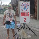 Ken Bob and Herman took their time finishing the Surf City 5K