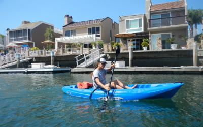 Cathy in Kayak