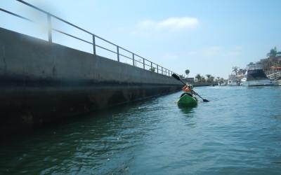 Psycho Herman kayaking