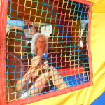Adreah in the bounce house