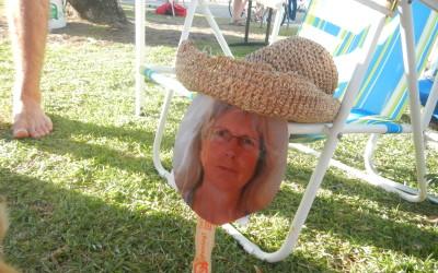 Adreah in a hat
