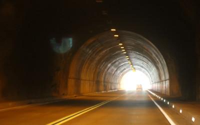 Tunnel near Yosemite Park