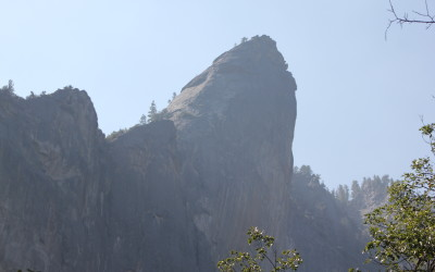 Big rock standing out from the crowd (Cathedral Peak?)
