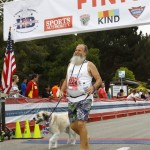 2015 July 4 - Herman finishes Surf City 5K with Ken Bob