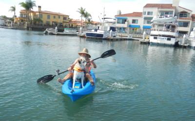 2015 July - Herman and Ken Bob kayaking in Huntington Harbor